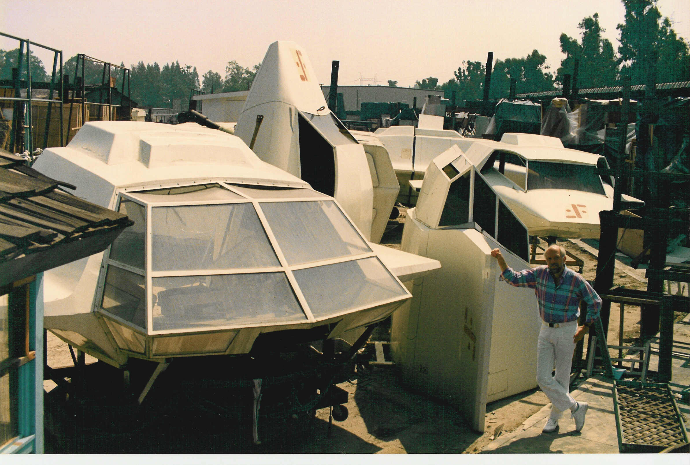 Used Spacecraft Lot, taken on Warners back lot while Kenny was dubbing Short Circuit 2 in 1988.
